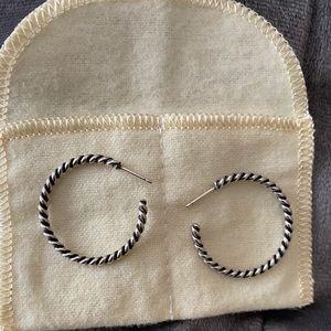 Authentic James Avery hoop earrings 50.00